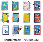 abstract dynamic shape vector...   Shutterstock .eps vector #700206832