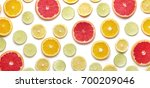 orange slice on white background | Shutterstock . vector #700209046