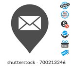 mail letter marker gray icon... | Shutterstock .eps vector #700213246