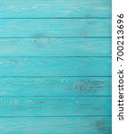 Wooden Aged Background Of Azur...