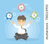time management concept. man... | Shutterstock .eps vector #700215952
