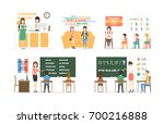 language course set of... | Shutterstock .eps vector #700216888