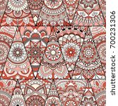 seamless mandalas pattern.... | Shutterstock .eps vector #700231306
