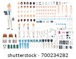 doctor character constructor.... | Shutterstock .eps vector #700234282