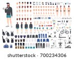 sports guy character... | Shutterstock .eps vector #700234306