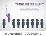 think differently   being... | Shutterstock .eps vector #700243942
