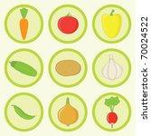 vegetable icons set | Shutterstock .eps vector #70024522