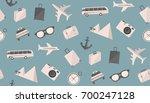 travel pattern | Shutterstock .eps vector #700247128