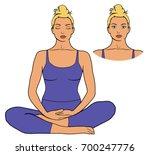 illustration of woman... | Shutterstock .eps vector #700247776