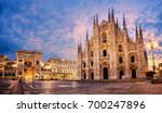 milan cathedral  duomo di... | Shutterstock . vector #700247896