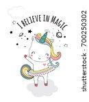Cute Unicorn Illustration For...
