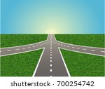 intersection on a highway ... | Shutterstock .eps vector #700254742