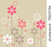 stylized pink and white flowers ... | Shutterstock .eps vector #70025746