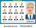 set of male facial emotions...   Shutterstock .eps vector #700264852