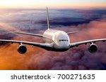 Passenger Plane In The Sunset...