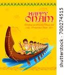 illustration of snakeboat race... | Shutterstock .eps vector #700274515