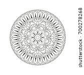 flower mandala. vintage... | Shutterstock .eps vector #700278268
