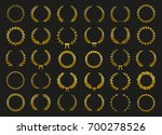 collection of gold circular... | Shutterstock .eps vector #700278526
