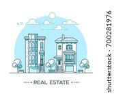 city landscape. real estate and ... | Shutterstock .eps vector #700281976