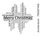 merry christmas tag cloud in... | Shutterstock .eps vector #700287406