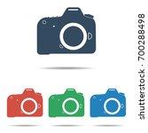 dslr camera icon set   simple... | Shutterstock .eps vector #700288498