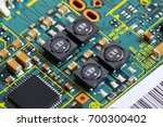 electronic circuit board close... | Shutterstock . vector #700300402