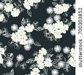 flowers pattern  background... | Shutterstock .eps vector #700303852