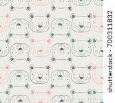 bear  seamless pattern hand... | Shutterstock .eps vector #700311832