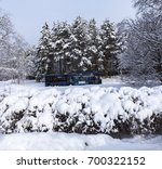 umea  sweden on march 03. view... | Shutterstock . vector #700322152