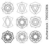 cosmic geometry astrological... | Shutterstock .eps vector #700322806