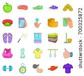 strength icons set. cartoon set ... | Shutterstock .eps vector #700325872