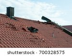 storm damage after thunderstorm ... | Shutterstock . vector #700328575