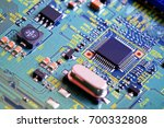electronic circuit board close... | Shutterstock . vector #700332808