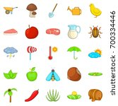 steading icons set. cartoon set ... | Shutterstock .eps vector #700334446