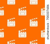 clapperboard pattern repeat... | Shutterstock .eps vector #700337686