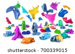 bright clothes fall to the... | Shutterstock . vector #700339015