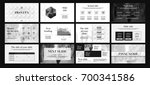 gray and white elements on a... | Shutterstock .eps vector #700341586