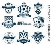 set of soccer football logos ... | Shutterstock .eps vector #700341718