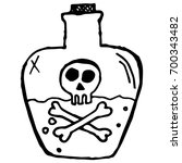 icon of the poison. bottle with ... | Shutterstock .eps vector #700343482