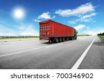 green truck with the red... | Shutterstock . vector #700346902