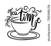hand drawn tea time vector... | Shutterstock .eps vector #700348156