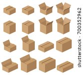 isometric carton packaging box... | Shutterstock .eps vector #700352962