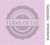 terms of use pink emblem. retro