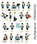 set of businesswoman characters ... | Shutterstock .eps vector #700360132