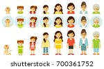 set of people generations at... | Shutterstock .eps vector #700361752