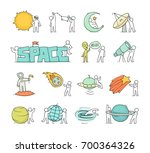 cartoon icons set of sketch...   Shutterstock .eps vector #700364326