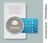 vector infographic template for ... | Shutterstock .eps vector #700364866