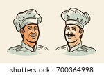 portrait of cheerful chef  cook.... | Shutterstock .eps vector #700364998