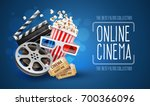 online cinema art movie... | Shutterstock .eps vector #700366096
