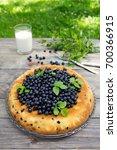 blueberry pie   Shutterstock . vector #700366915